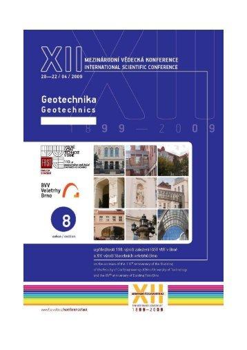 Geotechnika - Fakulta stavební - Vysoké učení technické v Brně