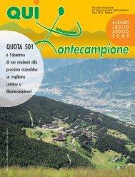 qui montecampione n° 2 giugno-luglio-agosto 2004 - Consorzio di ...