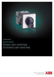 Switches Rotary cam switches Enclosed cam ... - VAE ProSys sro