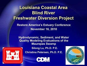 Louisiana Coastal Area Blind River Freshwater Diversion Project