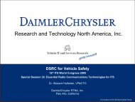DSRC for Vehicle Safety