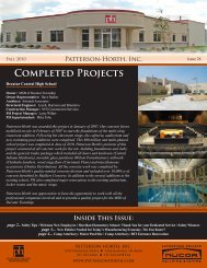 completed Projects - Patterson-Horth, Inc.