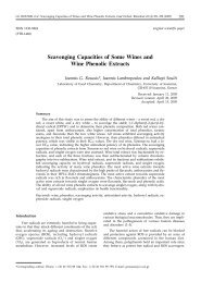 Scavenging Capacities of Some Wines and Wine Phenolic Extracts