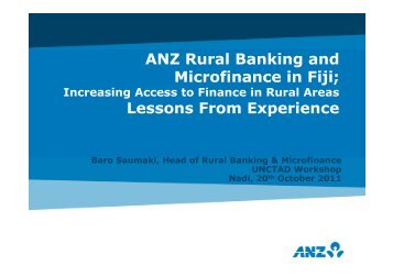 ANZ Rural Banking and Microfinance in Fiji; Lessons From Experience