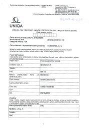 Poistná zmluva č. 8120216272 - Fond sociálneho rozvoja