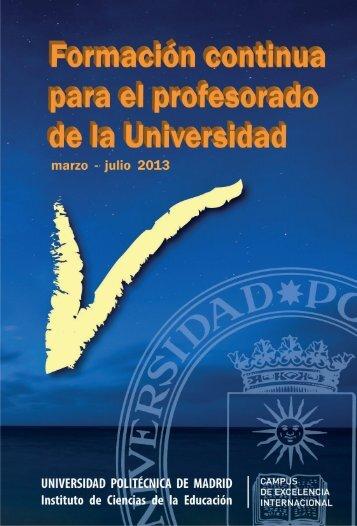 programa marzo – julio 2013 - ICE - Universidad Politécnica de ...