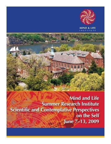 CONFERENCE BROCHURE - Mind & Life Institute