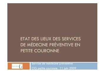 Etat des lieux médecine préventive ( PDF , 1893 ko )