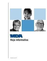 MDA Hoja Informativa - Muscular Dystrophy Association