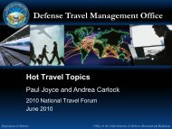 Defense Travel Management Office