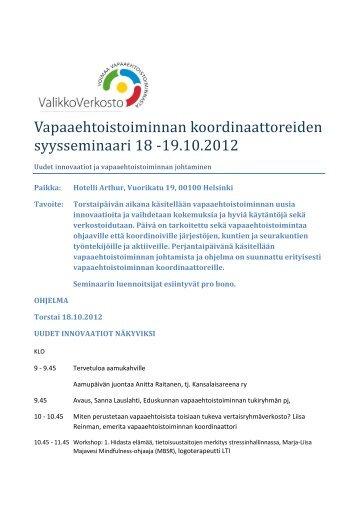 Tutustu ohjelmaan ja ilmoittaudu - Kansalaisareena