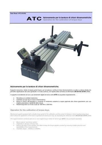 Azionamento per la taratura di chiavi dinamometriche ... - AEP