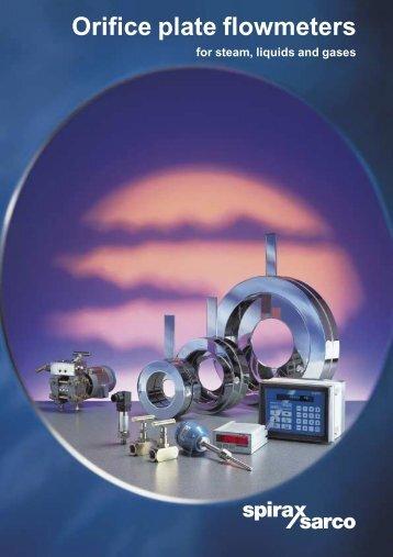 Orifice Plate Flowmeters for Steam, Liquids and Gases - Spirax Sarco
