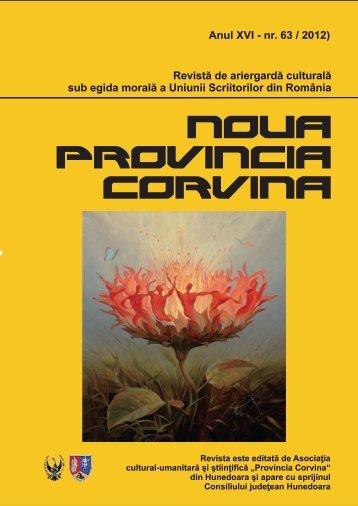 Noua ProVincia Corvina nr.63 - WordPress.com