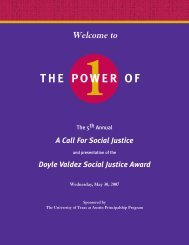 doyle valdez and the social justice award - Department of ...