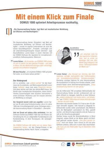 Anwenderbericht - DOMUS Software AG
