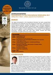 Amendments to the International Arbitration Act - Singapore ...