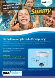 Einfach und effektiv den Pool heizen! Polyflex Sunny - Pool Doktor