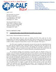 130405 Letter to Secretary Vilsack re Checkoff Audit ... - R-Calf