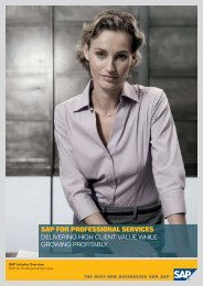 SAP FOR PROFESSIONAL SERVICES - B4 Consulting