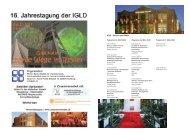 IGLD –Session und Chairs - (GFID) eV