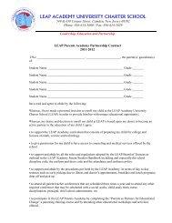 Parent Partnership Contract Form - LEAP Academy University ...