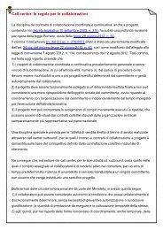 Call center: le regole per le collaborazioni - Filbi