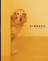 1998 Annual Report - Kinross Gold