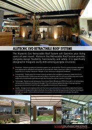 alutecnic evo retractable roof systems - Viva Sunscreens