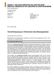 09.03.2009 - Vernehmlassung zur Teilrevision des Steuergesetzes