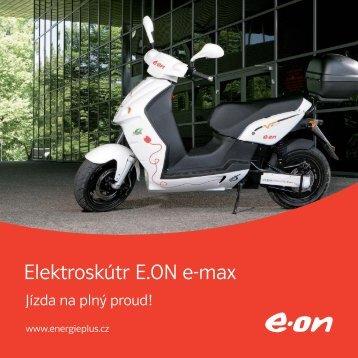 Elektroskútr E.ON e-max: Jízda na plný proud! Produktový list