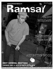 December newsletter - Ramsay Community Association in Calgary