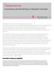 Részletes, letölthető termékleírás ( pdf, 77 kB ) - T-Systems