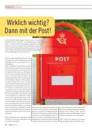 Branche: Wirklich wichtig? Dann mit der Post! - FACTS Verlag GmbH