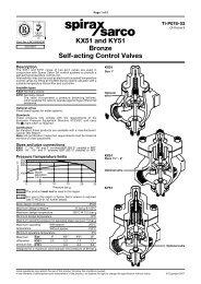 KX51 and KY51 Bronze Self-acting Control Valves - Spirax Sarco