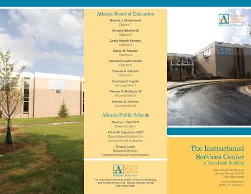 The Instructional Services Center - Atlanta Public Schools