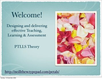 Download PTLLS 1 - theory - Typepad