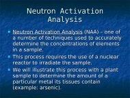 Neutron Activation Analysis (NAA)