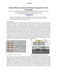 Hybrid Silicon Evanescent Photonic Integrated Circuit Technology