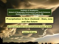 Precipitation in New Zealand - then, now and the future