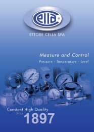 Down load the products brochure - Ettore Cella SPA