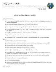 General Fire Safety Inspection Checklist - City of Boca Raton