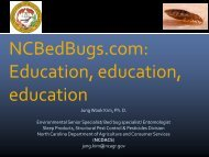NCBedBugs.com: Education, education, education