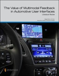 The Value of Multimodal Feedback in Automotive User Interfaces