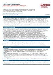 Produktinformationsblatt Sparkassen-DynamikDepot Chance