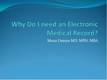 Why Do I need an Electronic Medical Record?