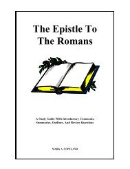 The Epistle To The Romans - Executable Outlines