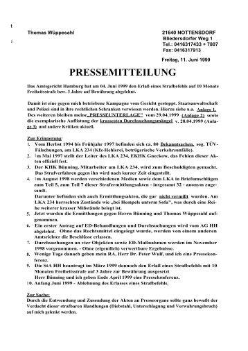 konstruierten Verdachtes - Thomas Wüppesahl