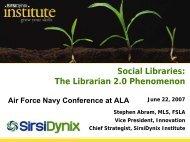 The Librarian 2.0 Phenomenon - Stephen's Lighthouse