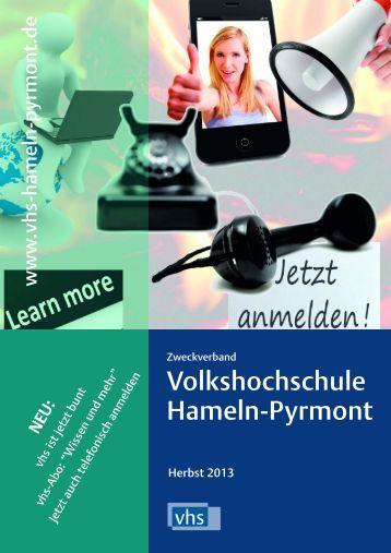 Wissen und mehr - Zweckverband Volkshochschule Hameln-Pyrmont